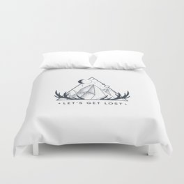 Let's Get Lost. Geometric Style Duvet Cover