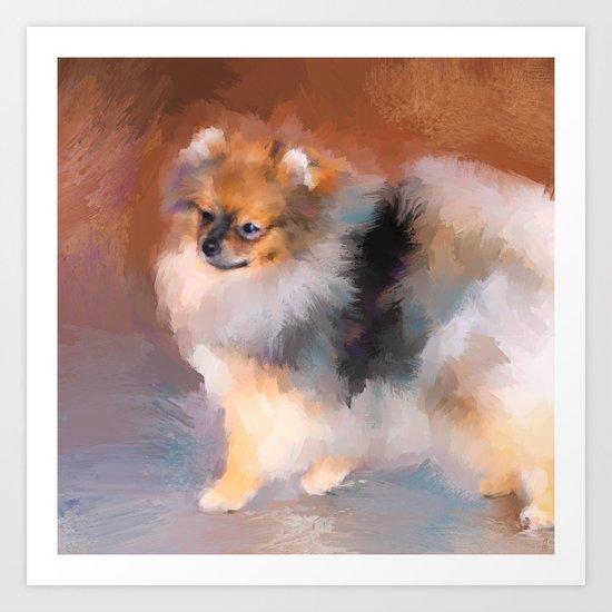 Tiny Pomeranian Art Print