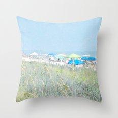 Surfside Beach Throw Pillow
