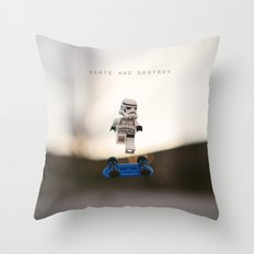 Skate and Destroy Throw Pillow