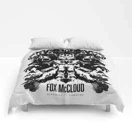 Fox McCloud Star Fox Inspired Geek Psychological Inkblot Comforters
