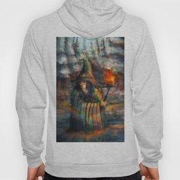 wizard in forest Hoody