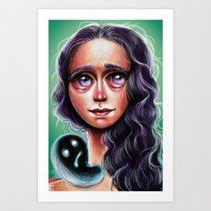 Violette :: Purple Haired Little Scamp Art Print