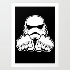 Dark Side Knuckle Art Print