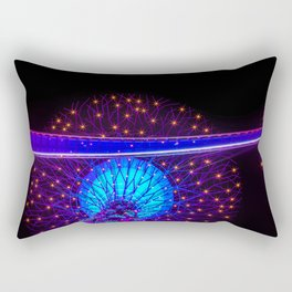 SuperTree Grove at Night Sky in Singapore Rectangular Pillow