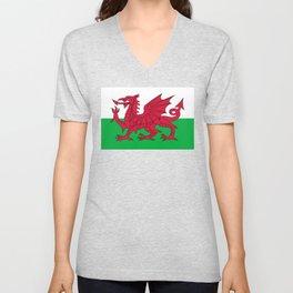Welsh Flag of Wales Unisex V-Neck