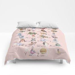 English alphabet for girls Comforters