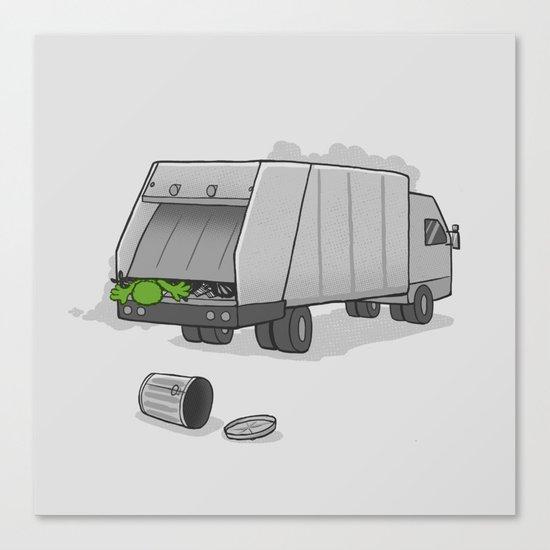 Accident on Sesame St.  Canvas Print