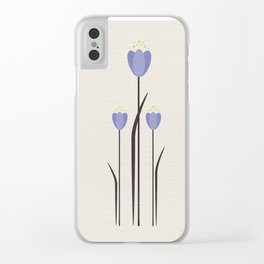 Minimal Bluebells Clear iPhone Case