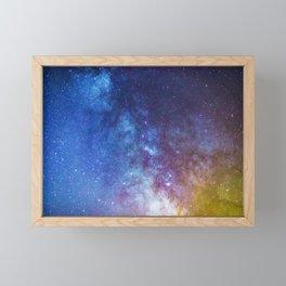 Purple Star Galaxy Framed Mini Art Print