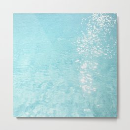 Pool sparkle Metal Print