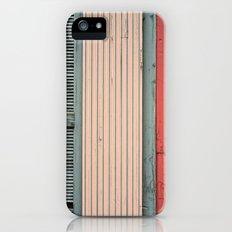 Teal shutter, coral door Slim Case iPhone (5, 5s)