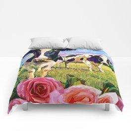 YOU LOOKING AT MOO Comforters