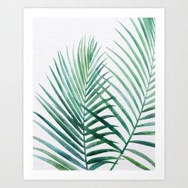 Emerald Palm Fronds Watercolor Art Print