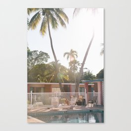 Motel Pool and Sun Canvas Print