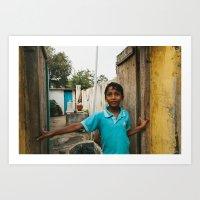 Boy in Peddapuram  Art Print