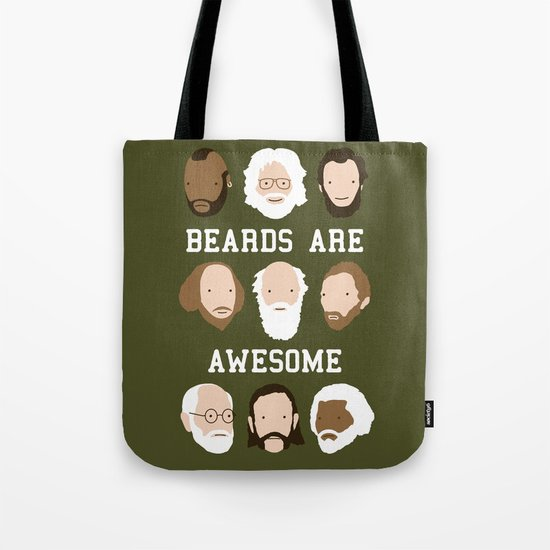 Beards Are Awesome Tote Bag