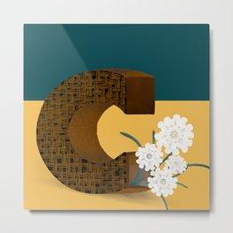 Vase C Candytufts Metal Print