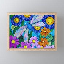 Springtime Series #1 Dragonfly coloured wings Framed Mini Art Print