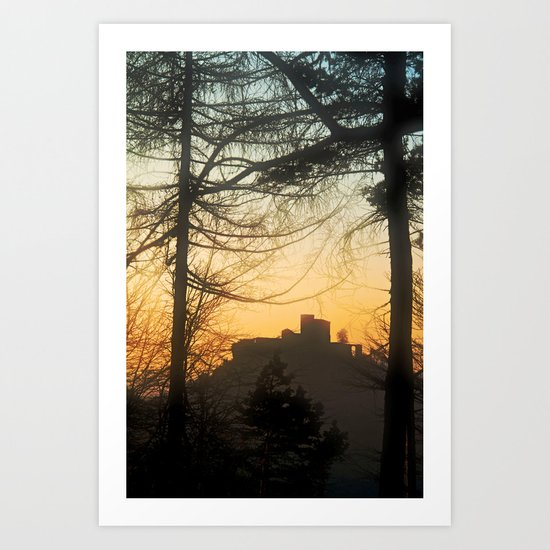 Castle beyond the forest Art Print