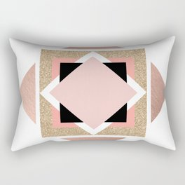 Carré rose Rectangular Pillow