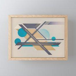 erie runways Framed Mini Art Print
