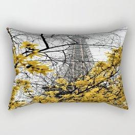 Eiffel Tower yellow flowers Rectangular Pillow