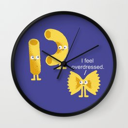 Overdressed Pasta Wall Clock