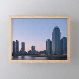 Haeundae Skyscrapers Framed Mini Art Print