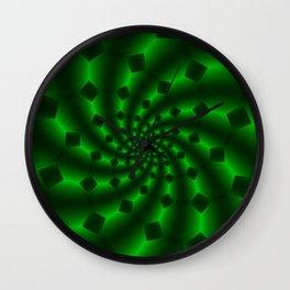 Tess Fractal in Magical Emerald Green Wall Clock