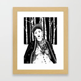 """Inktober, Day 25 """"Prickly"""" #inktober #inktober2018 Framed Art Print"""
