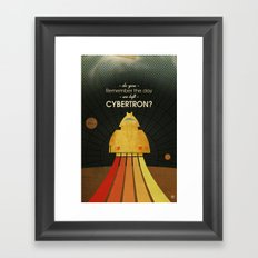 Do you remember the day we left Cybertron? Framed Art Print