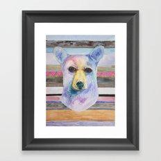 Bear Bust Framed Art Print