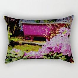 Pink Bathtub Rectangular Pillow