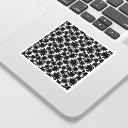 Flower Field in Black Sticker