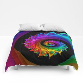 life is colorful -1- Comforters