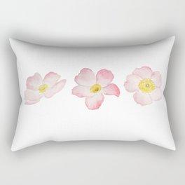 3 pink rose watercolor Rectangular Pillow