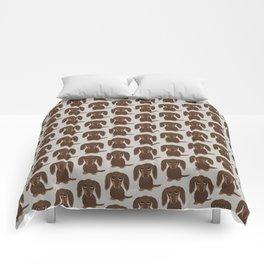 Longhaired Chocolate Dachshund Comforters