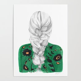 Braid in Green Poster
