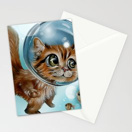 swimming charly Stationery Cards