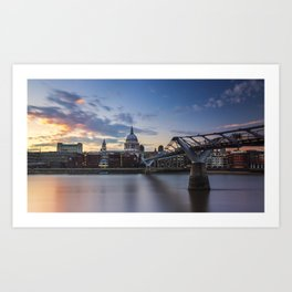 Sunset over St Paul's Cathedral Art Print