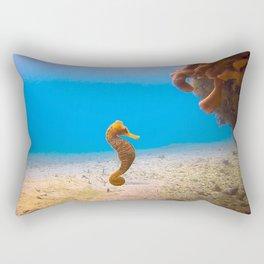 Tropical Seahorse Rectangular Pillow