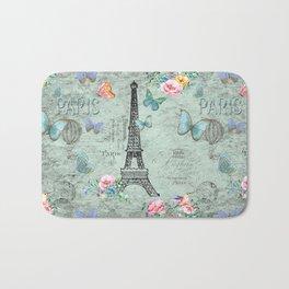 Paris - my love - France Eiffeltower Nostalgy - French Vintage Bath Mat