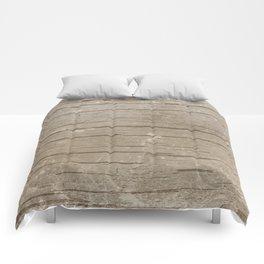 Nautical Driftwood Wood Grain Pattern Comforters