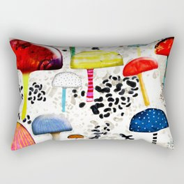 Mein Ein, mein Alles - Mushrooms Abstract Botanical Art - cute animal print - Leopard Muster Rectangular Pillow
