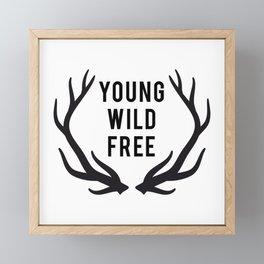 Young, wild, free Framed Mini Art Print