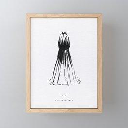 Little Black Halter Dress Framed Mini Art Print