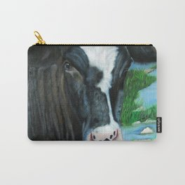 Muddy Fields Cow Painting Carry-All Pouch