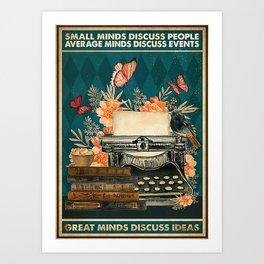Writer Writers Great Minds Discuss Ideas Art Print