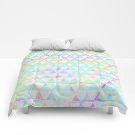 Bright Rainbow Geometric Triangle Pattern Design Comforters